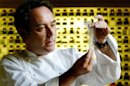 FILE - In this Dec. 5, 2003 file photo, Spanish chef Ferran Adria examines ingredients in his kitchen workshop in Barcelona, Spain. Spanish chef Ferran Adria, the man behind the late, lamented elBulli restaurant, is bringing an exhibition dedicated to the art and science of his experimental brand of cooking to London. The show, which was visited by 650,000 people during a year-long run in Barcelona, will be on display from July 5 to Sept. 29, 2013 at London&#039;s Somerset House. (AP Photo/Bernat Armangue, File)