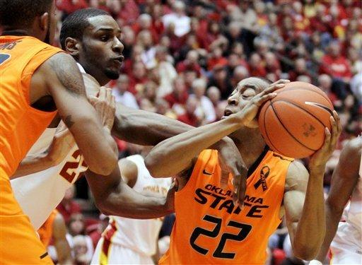 Iowa State beats No. 13 Oklahoma State 87-76