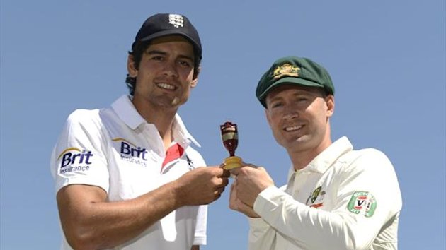 England captain Alastair Cook and Australia skipper Michael Clarke (Reuters)