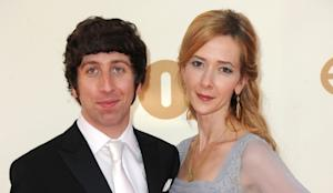 Simon Helberg and Jocelyn Towne arrive at the 63rd Annual Primetime Emmy Awards held at Nokia Theatre L.A. LIVE in Los Angeles on September 18, 2011  -- Getty Images