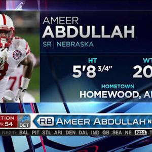 Detroit Lions pick running back Ameer Abdullah No. 54 in the 2015 NFL Draft