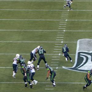 Seattle Seahawks quarterback Russell Wilson finds opening for 13 yards