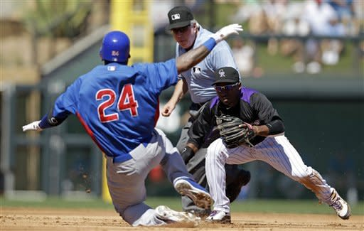 Samardzija roughed up, but Cubs outslug Rockies
