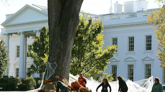 White House Prepares For Halloween Festivities