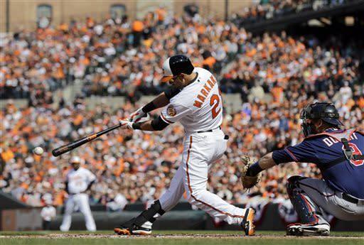 Davis' slam, 5 RBIs carry Orioles over Twins 9-5