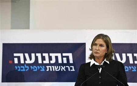 Former centrist Israeli Foreign Minister Tzipi Livni holds a news conference in Tel Aviv November 27, 2012. REUTERS/Nir Elias