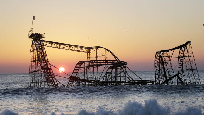 Demolition to begin on NJ coaster wrecked by Sandy