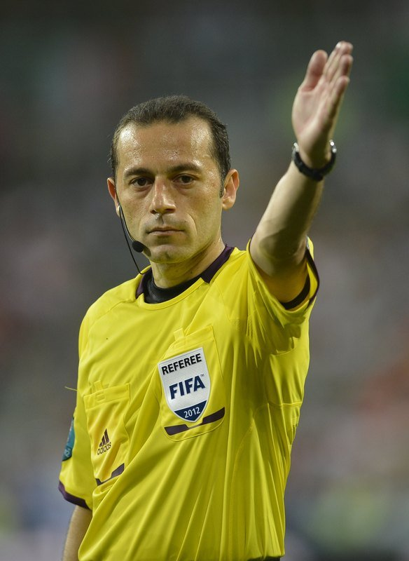 Turkish Referee Cuneyt Cakir Signals 