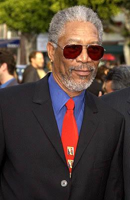 Morgan Freeman at the LA premiere of Paramount's The Sum of All Fears