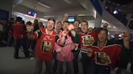 Mooseheads fans in Saskatoon thrilled about the Herd's 1st-period dominance.