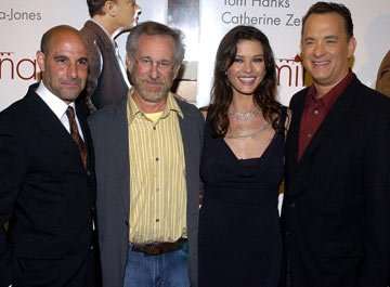 Premiere: Stanley Tucci, Steven Spielberg, Catherine Zeta-Jones and Tom Hanks at the Beverly Hills premiere of DreamWorks' The Terminal - 6/9/2004 