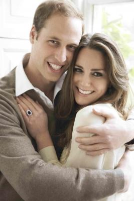 Prince William and Kate Middleton's official engagement photo, taken in London on November 25, 2010 -- Clarence House Press Office/Mario Testino