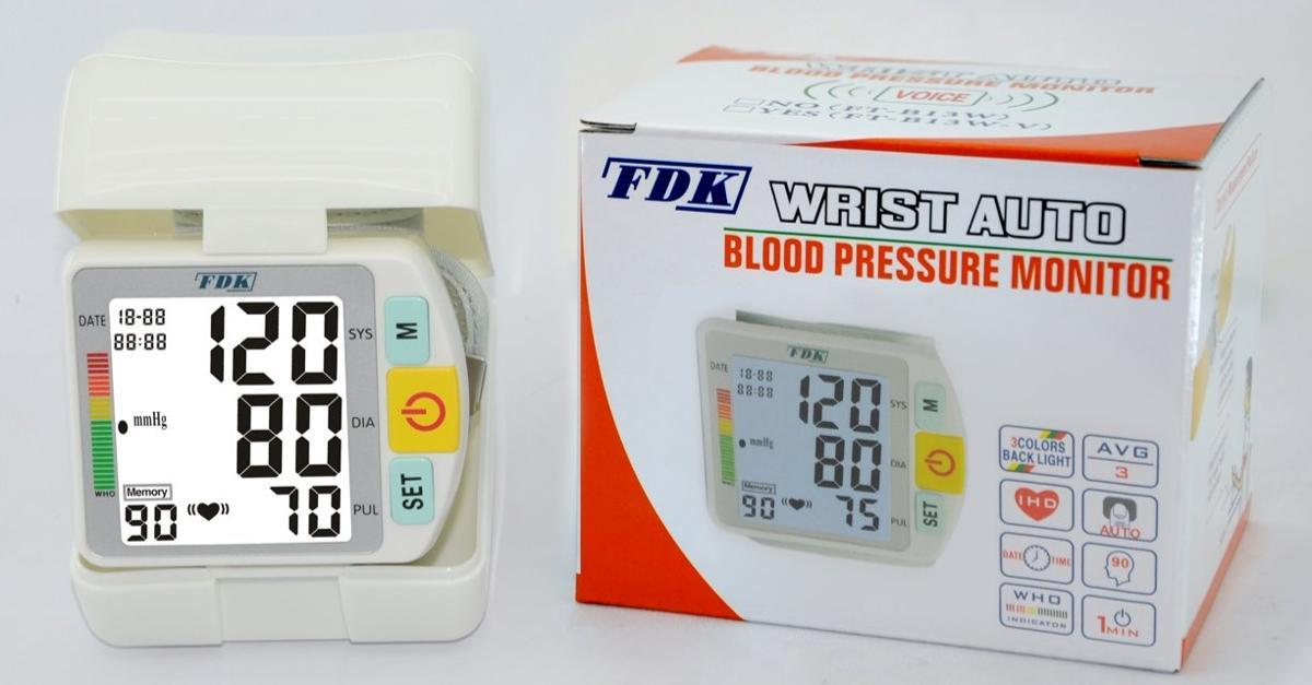 Wrist Cuff Blood Pressure Monitor _ By FDK