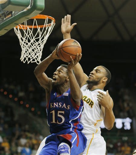 Baylor wins 81-58, No. 4 Kansas shares Big 12