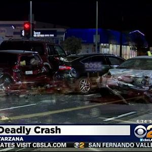 Suspected Drunk Driver Kills 1 In Tarzana 7-Car Crash