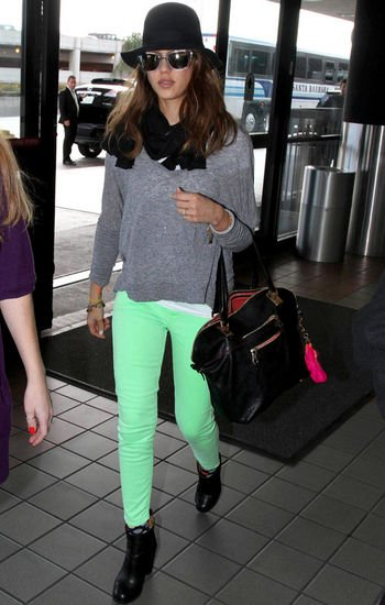 Las celebrities apuestan por el color menta