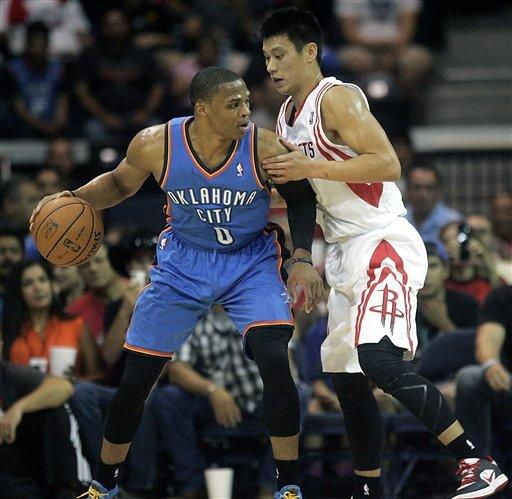 Rockets beat Thunder 107-105