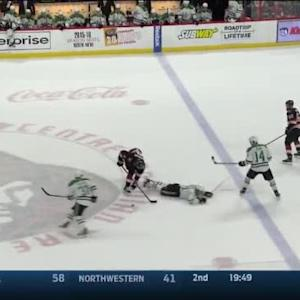 Milan Michalek Hit on Antoine Roussel (19:44/2nd)