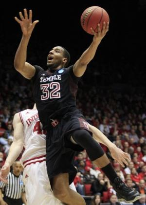 Indiana holds off Temple 58-52 to reach Sweet 16