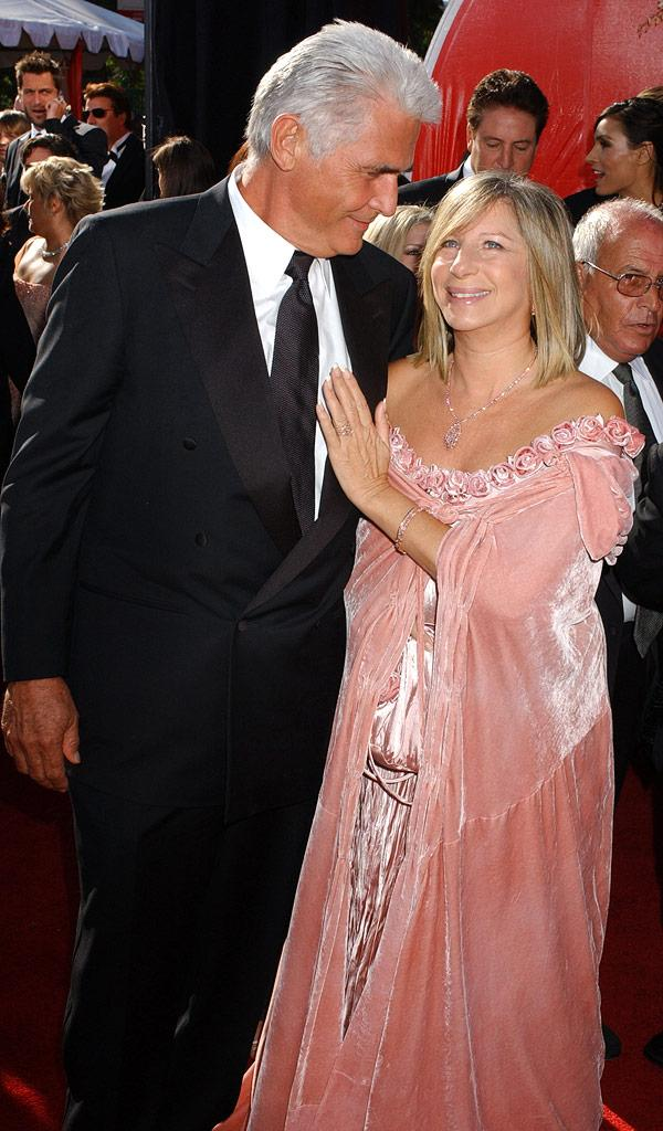 James Brolin and Barbra Streisand at The 56th Annual Primetime Emmy Awards.