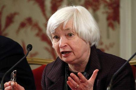 U.S. Federal Reserve Chair Yellen attends a conference of central bankers hosted by the Bank of France in Paris