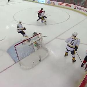 Marc Methot buries one-timer past Rinne