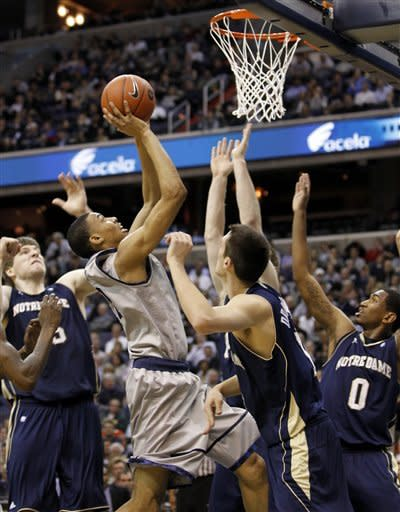 No. 11 Georgetown beats No. 20 Notre Dame 59-41