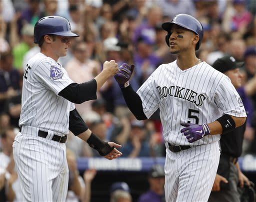 Rosario, Fowler lead Rockies past Padres 5-2