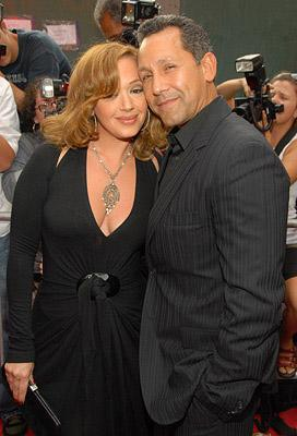 Leah Remini and Angelo Pagan at the New York premiere of Picturehouse's El Cantante -7/26/2007 Photo: Kevin Mazur, Wireimage.com