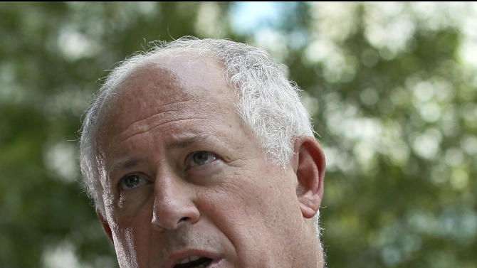 Illinois Gov. Pat Quinn responds to a question about the Supreme Court's decision on the Affordable Care Act during a news conference Thursday, June 28, 2012 in Chicago.  The Supreme Court on Thursday upheld virtually all of President Barack Obama's historic health care overhaul, including the hotly debated core requirement that nearly every American have health insurance.  The 5-4 decision meant the huge overhaul, still taking effect, could proceed and pick up momentum over the next several years, affecting the way that countless Americans receive and pay for their personal medical care. (AP Photo/Charles Rex Arbogast)