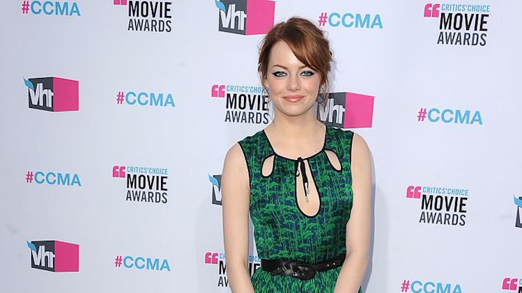 2011 Critics Choice Awards 2012 Emma Stone