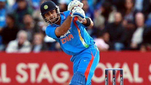 Virat Kohli remained at the crease as India looked to secure victory over England