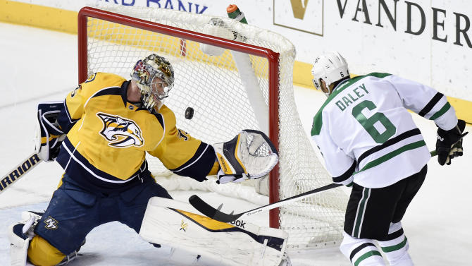 Weber scores 17 seconds into OT as Predators beat Stars 3-2
