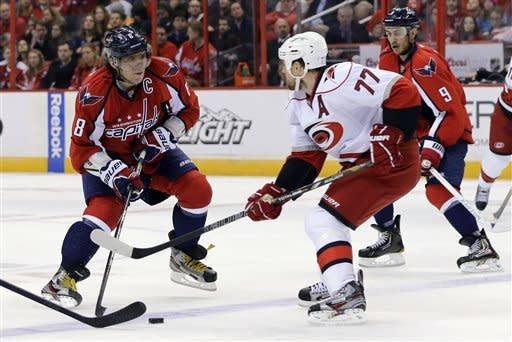 Capitals blank Hurricanes 3-0, within 4 pts of 1st