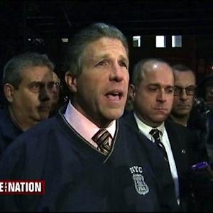 Police union head blames NYC mayor for killings of NYPD officers
