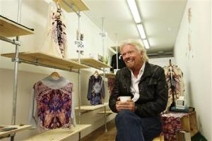 Sir Richard Branson, Founder of Virgin Group, is interviewed by Reuters about the Virgin StartUp scheme for young entrepreneurs, at Box Park in east London