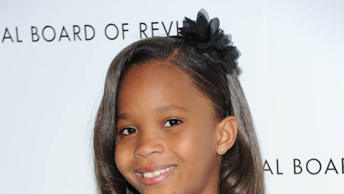"FILE - This Jan. 8, 2013 file photo shows actress Quvenzhane Wallis at the National Board of Review Awards gala in New York. Wallis was nominated for an Academy Award for best actress on Thursday, Jan. 10, 2013, for her role in the film ""Beasts of the Southern Wild.""  The 85th Academy Awards will air live on Sunday, Feb. 24, 2013 on ABC. (Photo by Evan Agostini/Invision/AP, file)"