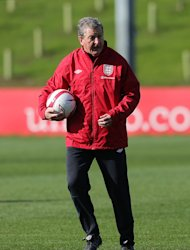 England manager Roy Hodgson during the training session at St George's Park