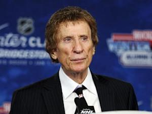 Owner of the Detroit Red Wings and Detroit Tigers Mike Ilitch addresses the media during a news conference in Detroit