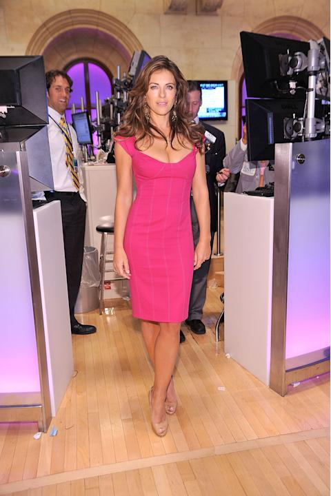 Elizabeth Hurley in a bodycon sheath