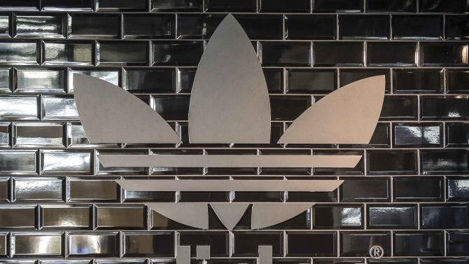 File photo of Adidas logo in a pop-up store in Berlin