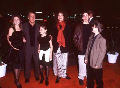 Dustin Hoffman and his brood at the premiere of Paramount's Titanic