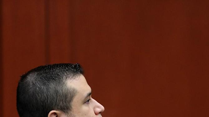 George Zimmerman listens to state witness Dr. Hirotaka Nakasone, a senior voice recognition scientist with the FBI, during the 16th day of his trial in Seminole circuit court, in Sanford, Fla., Monday, July 1, 2013. Zimmerman has been charged with second-degree murder for the 2012 shooting death of Trayvon Martin.(AP Photo/Orlando Sentinel, Joe Burbank, Pool)