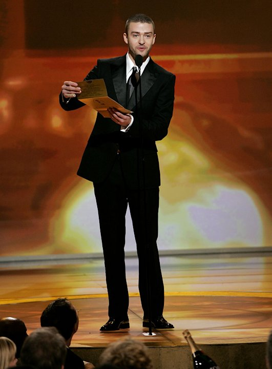 Justin Timberlake at the 64th annual Golden Globe Awards. 