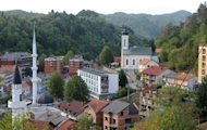 The eastern Bosnian city of Srebrenica is pictured in September 2012. Bosnia voted in local polls on Sunday with all eyes on Srebrenica, where 8,000 Muslim men were massacred in 1995, amid fears that Serbs could take power in the once Muslim-majority city