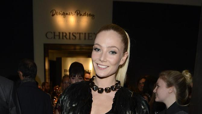 Clara Paget seen at the Designer Pudsey 2012 Collection auction in association with BBC's Children in Need at Christie's Auction House on Thursday, Nov. 15, 2012, in London. (Photo by Jon Furniss/Invision for Children in Need/AP Images)