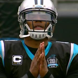 Carolina Panthers quarterback Cam Newton returns
