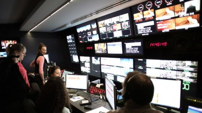 Behind the scenes at Al Jazeera America.