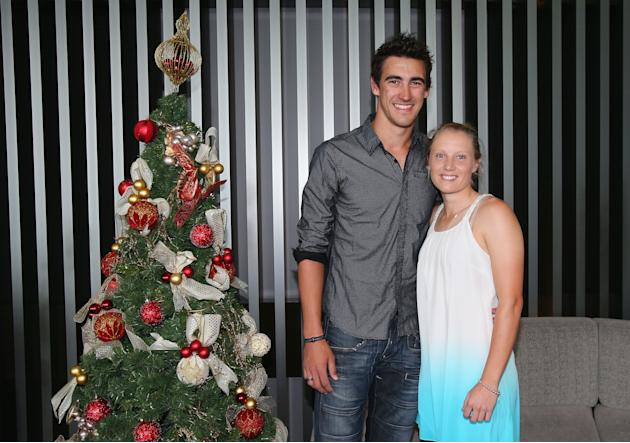 Australian Cricket Players Celebrate Christmas Day
