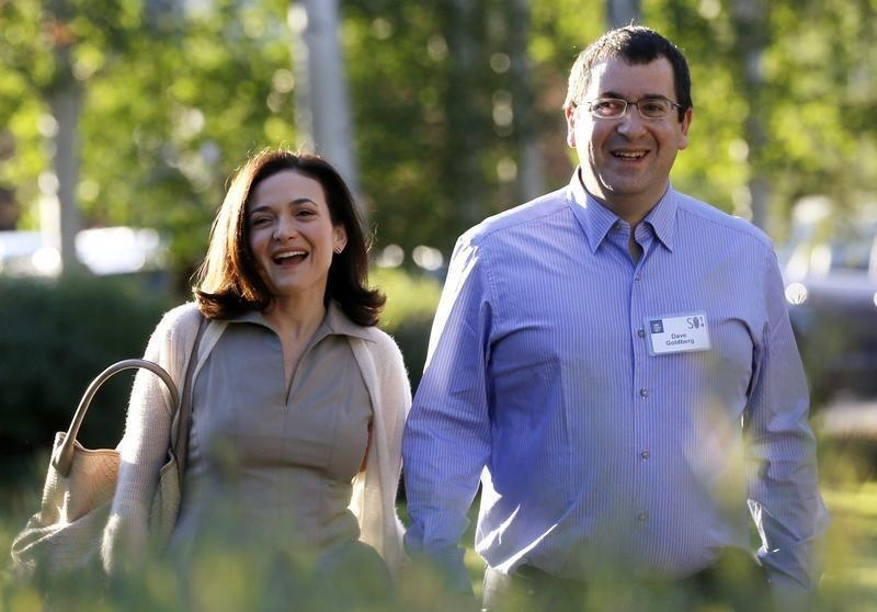 Facebook's Sandberg speaks at husband's memorial